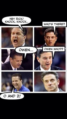 Bahaha !!!  The look on Rick's face in the last pic is appropriate.  We're gonna crush them this year!  Go Cats!