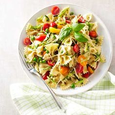 This pasta version of Caesar salad takes the same flavors and makes it more filling. #salad #caesarsalad