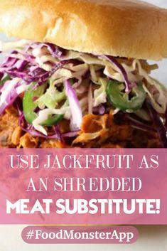 YUM! Dairy Free Recipes, New Recipes, Vegan Recipes, Vegan Food, Pulled Pork Recipes, Meat Substitutes, Vegan Burgers, Burger Recipes, Plant Based Diet