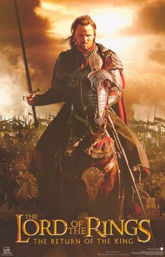 Lord of the Rings Return Aragorn on Horse 2003 Movie Poster 22x34