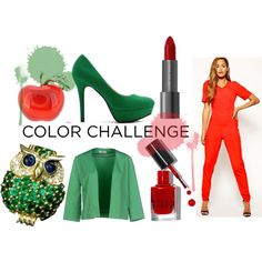 """Red & Green"" by louiseenorris on Polyvore"