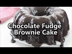 If you are a fan of easy chocolate desserts, you will want to make this Chocolate Fudge Brownie Cake. This bundt cake has lots and lots of chocolate. Chocolate Fudge Brownies, Chocolate Bundt Cake, Chocolate Desserts, Cake Mix Recipes, Brownie Recipes, Dessert Recipes, Cake Mixes, Frosting Recipes, Cupcake Cakes