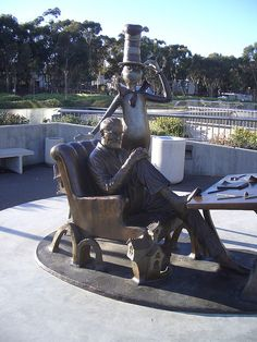 Dr. Seuss statue at UCSD Geisel Library, San Diego, California by dullhunk, via Flickr