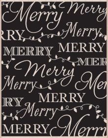 Hero Arts Designblock MERRY BACKGROUND Rubber Stamp S5531*
