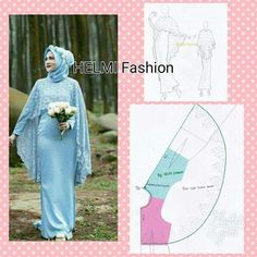 You can easily make this model yourself . Rate the fabrics in your hand .You can easily do it yourself . Abaya Pattern, Collar Pattern, Pattern Cutting, Pattern Making, Dress Sewing Patterns, Clothing Patterns, Fashion Sewing, Diy Fashion, Model Kebaya