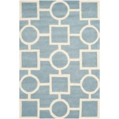 Safavieh Chatham Blue/Ivory 8 ft. 9 in. x 12 ft. Area Rug-CHT737B-9 - The Home Depot