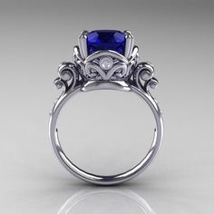 Amazing 5 Carat Wedding Ring With Carat Blue Sapphire Diamond Wedding Engagement Ring R167 14kwgdbs