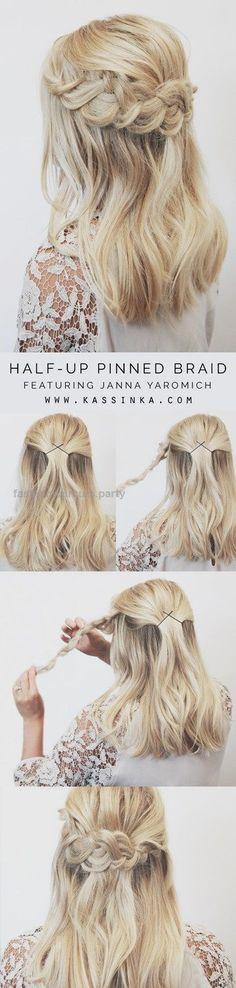 half-up-pinned-braid via Easy Step by Step Hair Tutorials… half-up-pinned-braid via Easy Step by Step Hair Tutorials http://www.fashionhaircuts.party/2017/05/09/half-up-pinned-braid-via-easy-step-by-step-hair-tutorials/