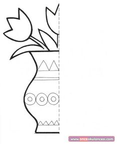 Animal Symmetry Activity Coloring Pages Symmetry Worksheets, Symmetry Activities, Preschool Activities, Preschool Coloring Pages, Coloring Pages For Kids, Coloring Sheets, Drawing For Kids, Art For Kids, Arte Elemental