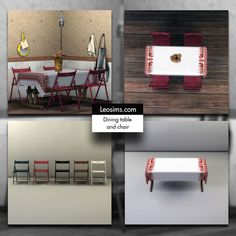 Sims 4 CC's - The Best: Dining Set by Leo Sims