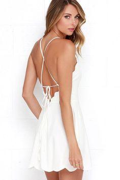 Play On Curves Ivory Backless Dress at Lulus.com!
