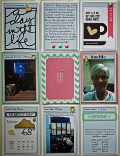 A Day in the Life Ali Edwards a week in the life journal cards, pocket pages, project life