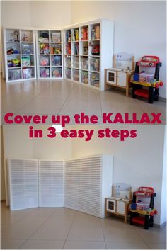 Für die Garage!  http://www.ikeahackers.net/2017/01/cover-kallax-3-easy-steps.html