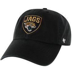 b08919bfb6e NFL Jacksonville Jaguars 47 Brand Stretch-Fit Black Hat Jacksonville Jaguars