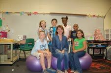 Riveted Little Readers: Yoga Balls in the Elementary Classroom