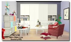 Sims 4 CC's - The Best: Modern Living Set Conversions by MsTeaQueen