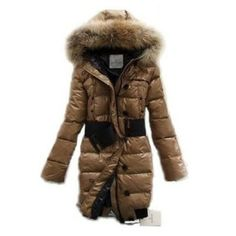 France Moncler Pop Star Down Long Khaki Coat Women On Sale