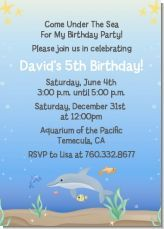 Beach or pool party or even just under the sea themed birthday party invitation