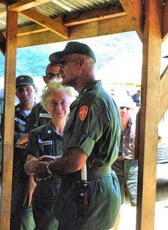 General Westmoreland visiting 85th Evac Hospital in Qui Nhon in August