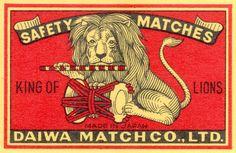 matchbox label.