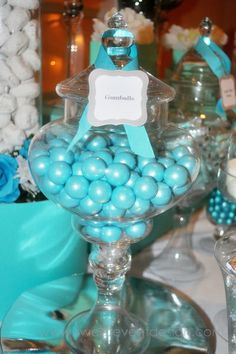 Sweets for candy bar (teal, aqua, turquoise or tiffany blue) (Had these at Joanne Fabrics)