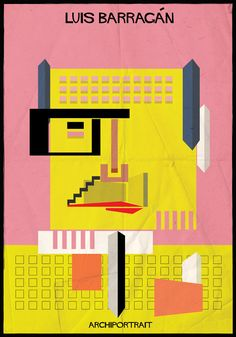 Luis Barragan Archiportrait by Federico Babina Zaha Hadid, Le Corbusier, Oscar Niemeyer, Architecture Drawings, Architecture Design, Architecture Diagrams, Architecture Portfolio, Arquitectura Wallpaper, Architect Drawing