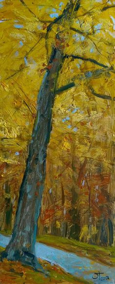 Lenka Krstic Autumn in Borkovac Traditional Paintings, Contemporary Art, Oil, Autumn, Design, Fall Season, Fall, Contemporary Artwork, Design Comics