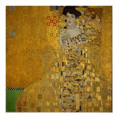 Gustav Klimt Portrait of Adele Bloch-Bauer I - Top reproduced famous Handmade Oil Painting Reproduction on Canvas Gustav Klimt, Art Klimt, Adele, Stretched Canvas Prints, Canvas Art Prints, Painting Canvas, Johannes Vermeer, Art Gallery, Woman In Gold