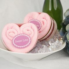 Heart Towel Cakes More