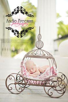 Disney baby photography Cinderella carriage
