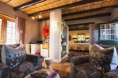 Accommodation and reservations at Augusta de Mist Boutique Retreat, in Swellendam Boutique Retreats, Cape Dutch, Log Fires, Outdoor Life, Historic Homes, Valance Curtains, Mists, Relax, Lounge