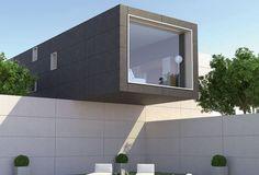 Fassadenverkleidung aus Feinsteinzeug LIMESTONE GRESPANIA CERAMICA
