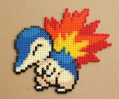 Hey, I found this really awesome Etsy listing at https://www.etsy.com/listing/196251023/cyndaquil-pokemon-hama-perler-bead