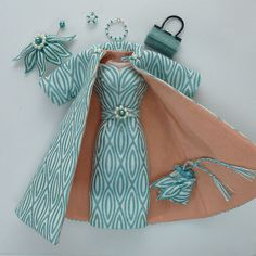 Handmade Turquoise Brocade Outfit