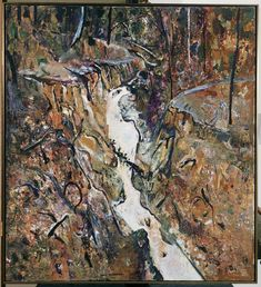 Fred Williams, Wild Dog Creek Oil on canvas, x cm Australian Painting, Australian Artists, Abstract Landscape, Landscape Paintings, Fred Williams, Contemporary Art Artists, Nature Sketch, Art Club, Installation Art