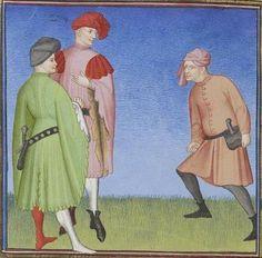 Publius Terencius Afer, Comoediae [comédies de Térence] ca. 1411;  Bibliothèque de l'Arsenal, Ms-664 réserve, 171v