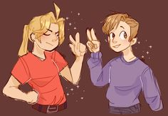Elric brothers by edboyelric