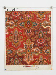 Grandberg Brothers original painting 1973 Baroque, Paisley, Original Paintings, Sapphire, Indian, Embroidery, The Originals, Rugs, Wallpaper