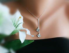 Calla lily necklace