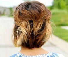 Peinado de pelo corto con accesorios -Short hairstyle with accesories