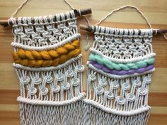 CUSTOMIZABLE Modern macrame wall hanging OOAK weaving home