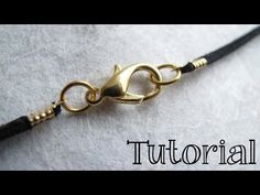 How to Finish a Leather or Cord Necklace - DIY Jewelry Tutorial - YouTube