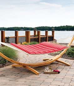 Can't find comfier than this Pillow-top Hammock by Hatteras Hammocks! Rope Hammock, Hammock Stand, Hammock Frame, Hammock Ideas, Hatteras Hammocks, Cypress Wood, Stand Design, Outdoor Furniture, Outdoor Decor