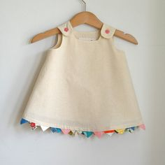 "I used to make dresses just like this for Anna with little puffy ""bloomer"" style shorts when she was little."