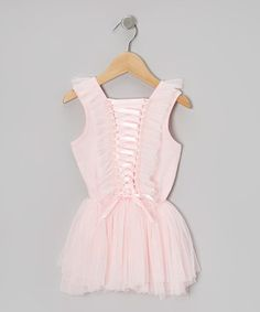 Take a look at this Pink Corset Chiffon Dress - Toddler & Girls by Butterflies & Moonbeams on #zulily today!
