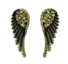 Wearing the right #jewelry is a way to express the woman you are...So, catch the sparkles that ignite your passion and add brilliance to your personality. Wear this feminine angel of nostalgia #earring with your favorite evening gown and look as divine as the angels in the heaven. #earrings https://www.lindastars.com/collections/lindas-angels-earrings/products/angel-of-nostalgia-earrings