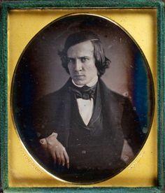 ca. 1841, [daguerreotype portrait of a frowning gentleman], Robert Cornelius.  Oh my.  Isn't he a bit broody!