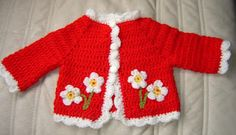 Crotched baby sweater... Cute! #crochet #haken