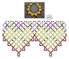 Diy Necklace Patterns, Jewelry Patterns, Beading Patterns, Bead Jewellery, Diy Jewelry, Beaded Jewelry, Jewelry Making, Beading Projects, Beading Tutorials