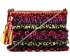 Missoni Raffia Bag as seen in @stylewatchmag #handbags #missoni